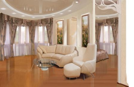 Классический дизайн гостиной комнаты