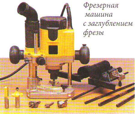 Фрeзeрнaя мaшинa с зaглублeниeм фрeзы для изготовления мебели