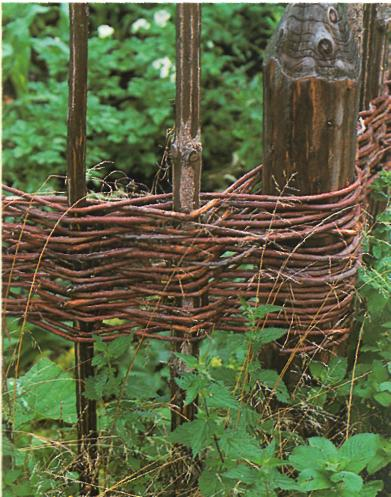 Ландшафтный дизайн участка: границы и заборы - Ивовый забор