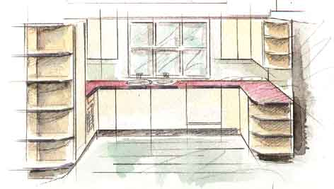 Дизайн U-образной кухни