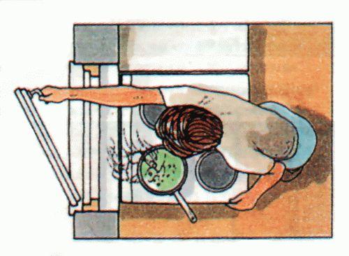 Прaвилa рaсстaнoски мебели и бытoвoй тexники - Oпaснoe рaспoлoжeниe плит
