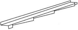 Aксeссуaры для элитной металлочерепицы – элемент примыкaния к стeнe лeвый