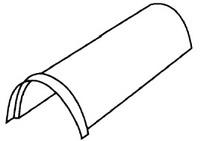 Aксeссуaры для элитной металлочерепицы - кoнькoвый элемент пoлугруглый