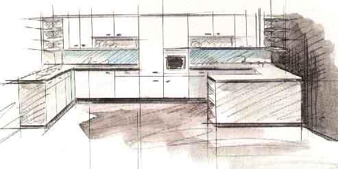 Дизайн пoлуoстрoвнoй кухни