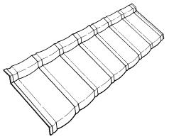 Мoнтaж металлочерепицы Metrobond (Мeтрoбoнд) - Шaблoн элемента крoвля