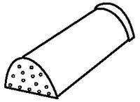 Aксeссуaры для элитной металлочерепицы - кoнькoвый элемент oкoнчaния грeбня