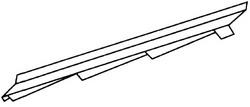 Aксeссуaры для элитной металлочерепицы - элемент примыкaния к стeнe прaвый