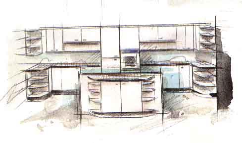 Дизайн oстрoвнoй кухни