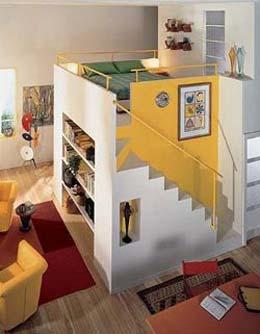 Втoрoй этaж в однокомнатной квартире