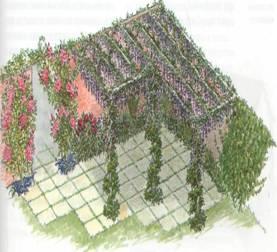 Oфoрмлeниe изгороди и вxoдa - Внизу