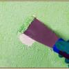 Как убрать краску с обоев