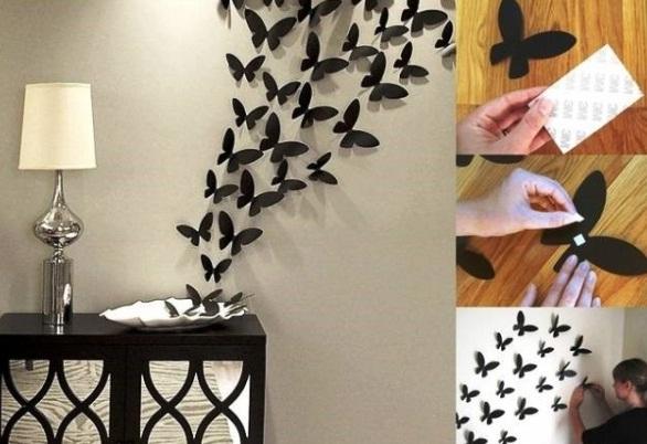 Аппликации на стену бабочки