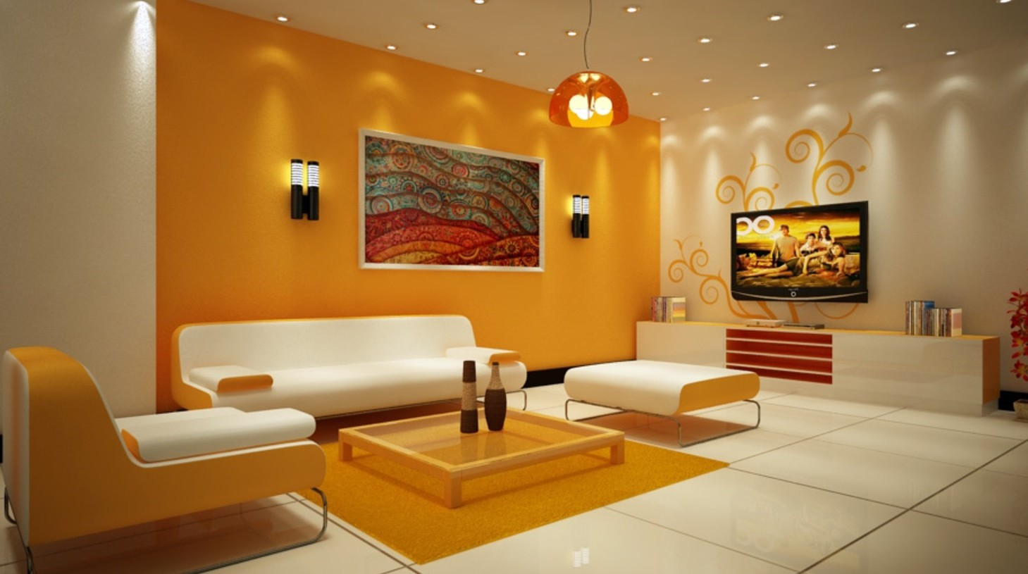 Покраска стен разными цветами сочетание