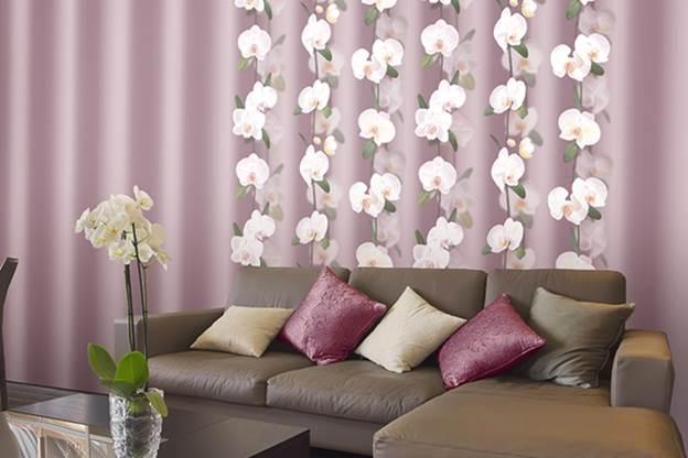 Обои орхидея в интерьере фото