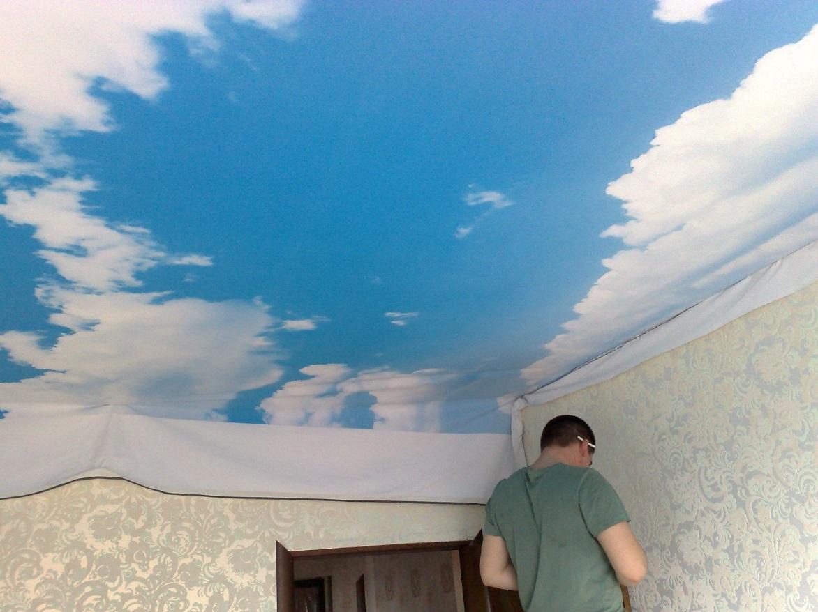 Небо на потолке своими руками