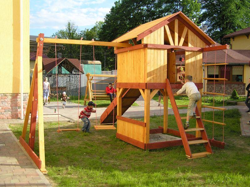 Домик для ребёнка на даче своими руками из доски 25
