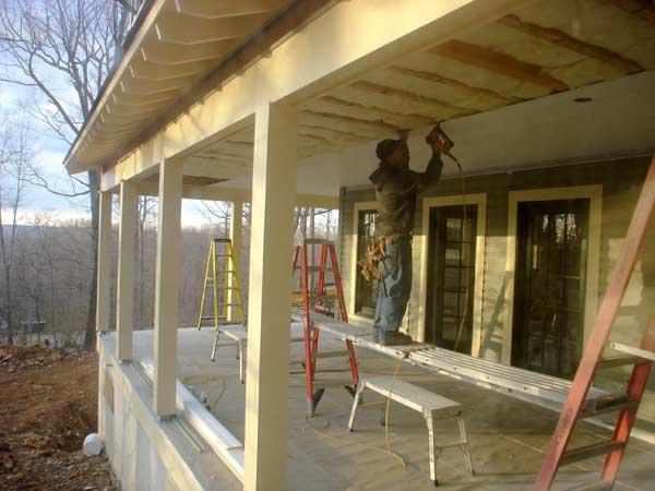Строительство теплой веранды к дому