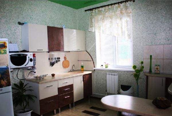 на кухню обои жидкие фото