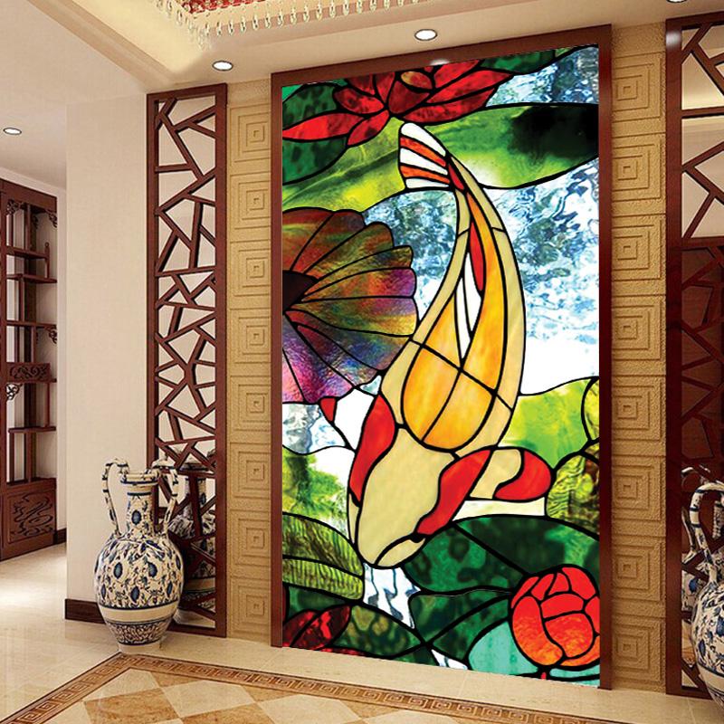Самоклеющийся витражный рисунок на стекло с рисунком