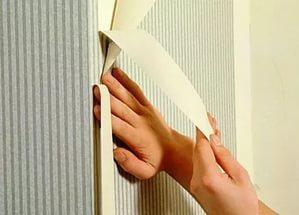 Как клеить флизелиновые метровые обои в углах видео