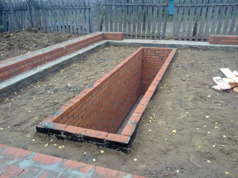 Строительство гаража с ямой