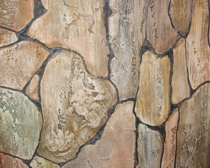 Имитация камня на стене своими руками из штукатурки 76