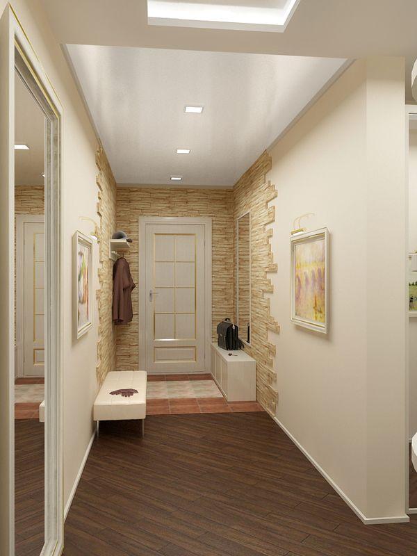 Длинная узкая прихожая в квартире дизайн фото