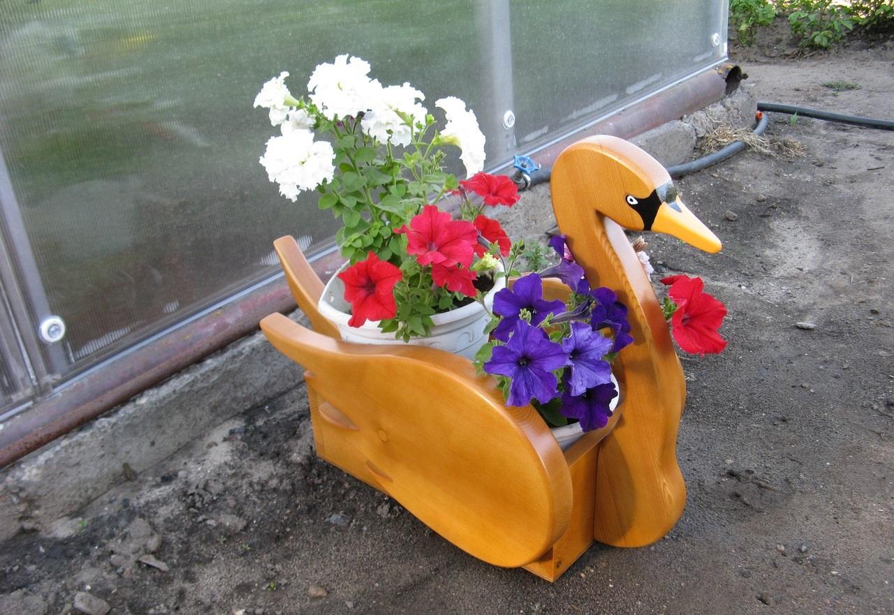 Кашпо для сада своими рук