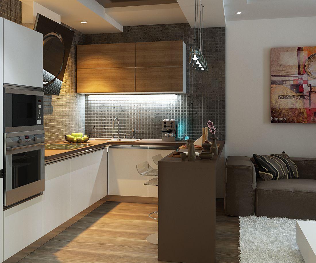Интерьер для кухонь 20 кв м фото с окном в квартире