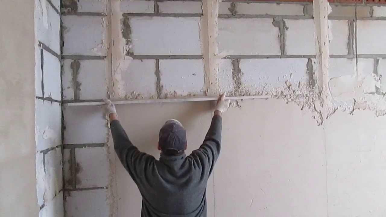 Выравнивание стен по маякам своими руками фото
