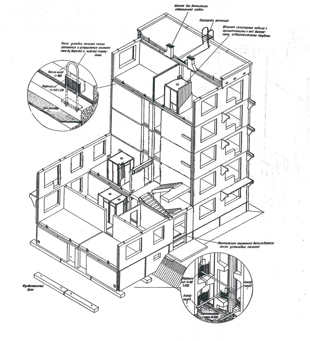 Схема вентиляции в домах серии п-49