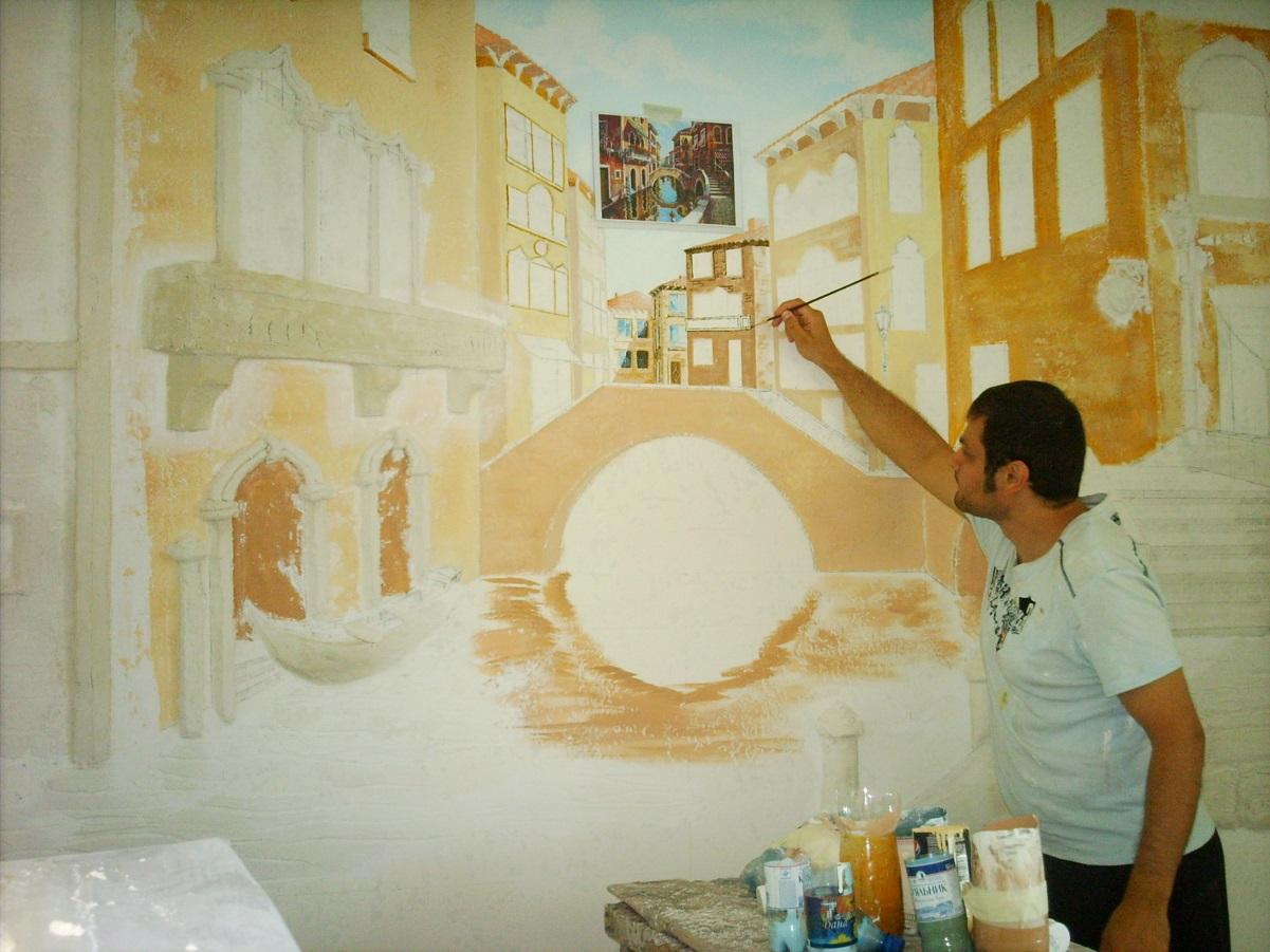 Акриловые краски для росписи на стенах паркетный клей полиуретановый вязкость