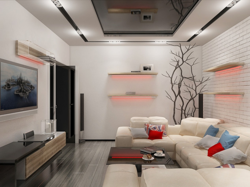 Гостиная 17 квадратов дизайн