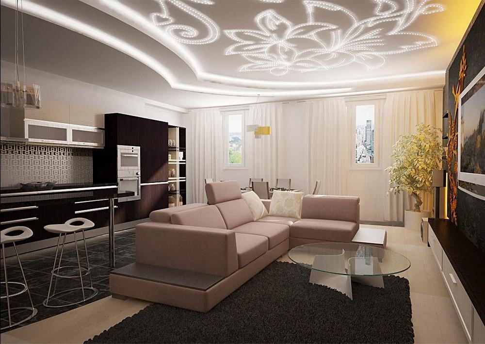 Дизайн интерьера потолка для