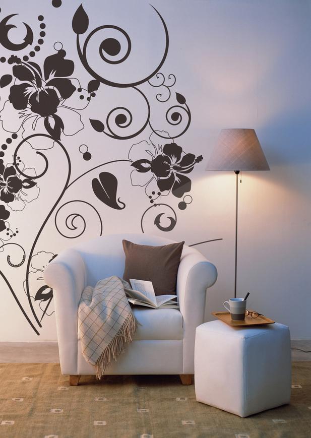 Декор стен рисунок своими руками 328