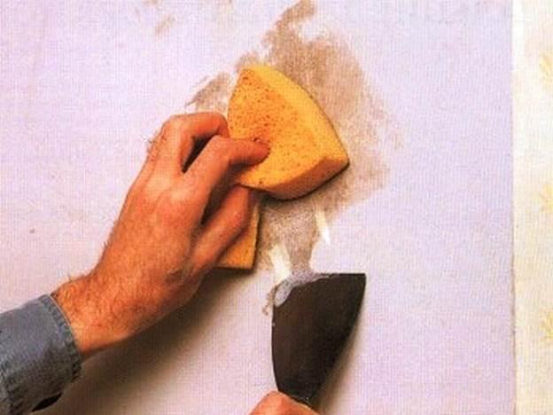 Как убрать жирные пятна с обоев