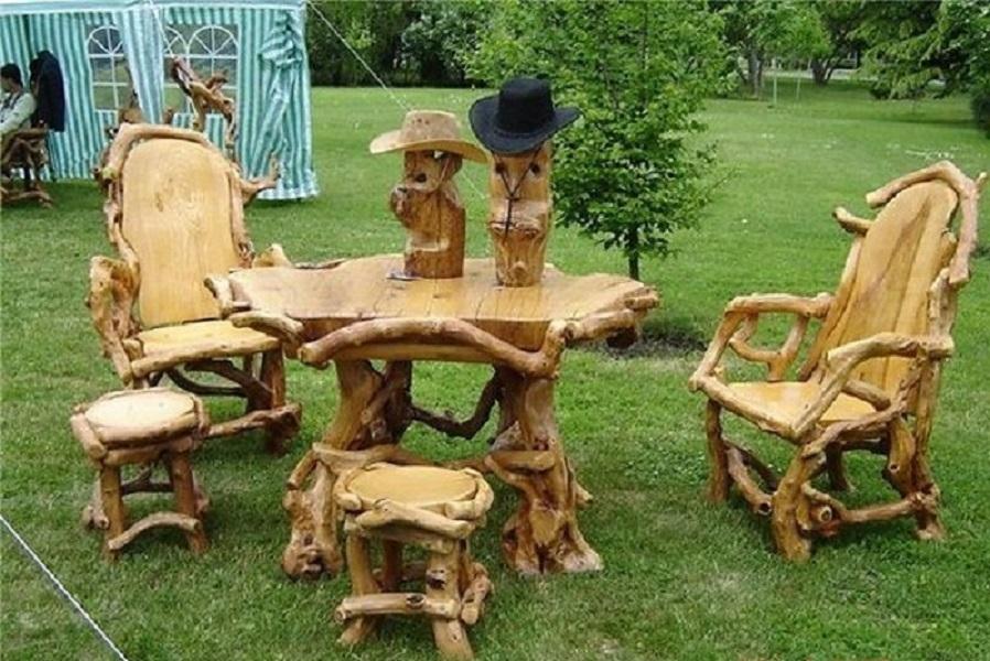 Деревянные фантазии для дачи своими руками 87