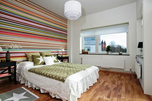 чтобы белье спальня в полоску горизонтальную сохраняют