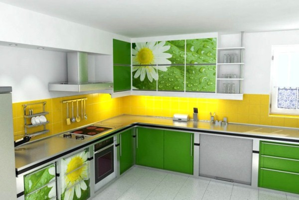 Кухни зеленого цвета дизайн