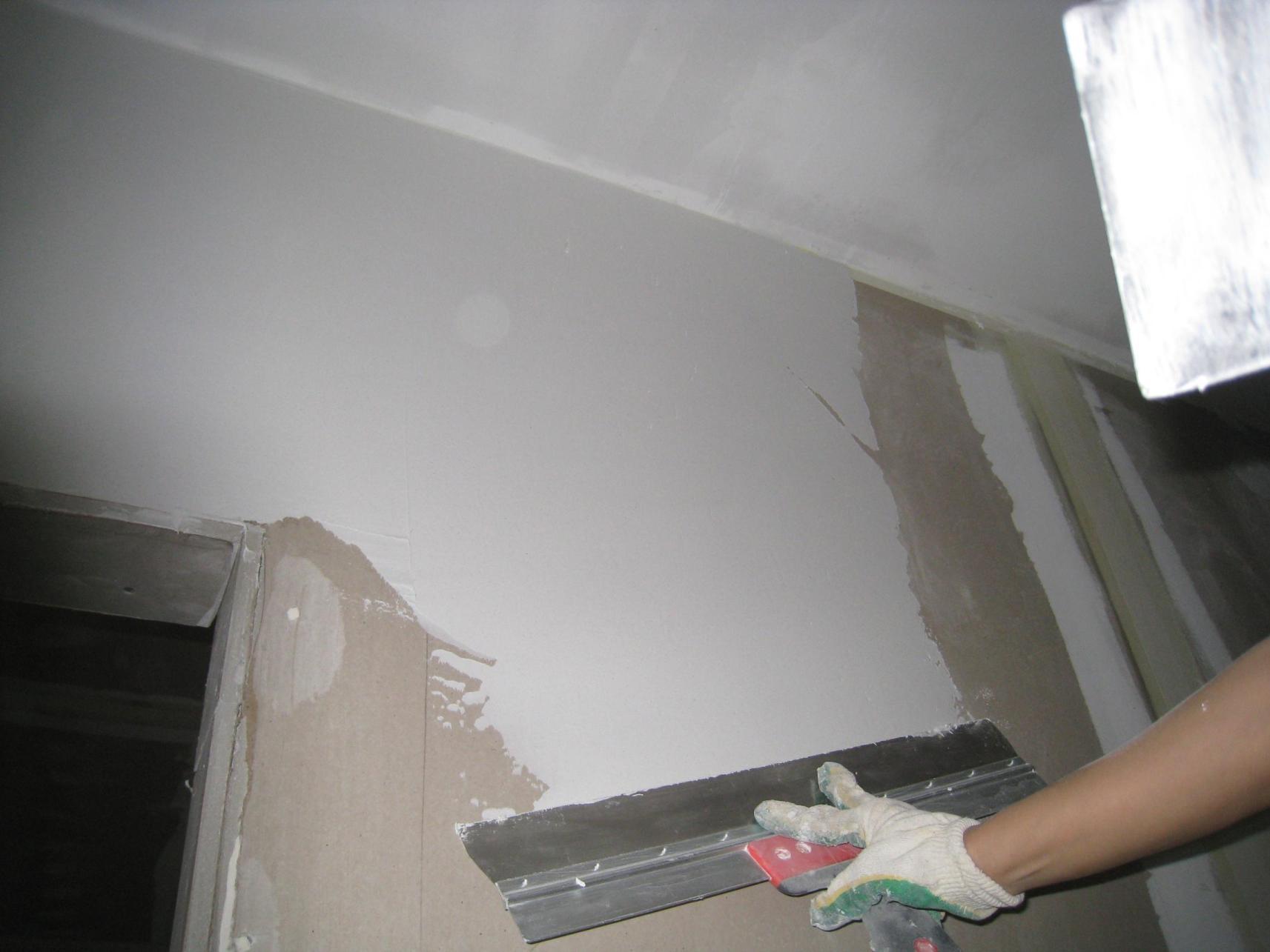 Шпатлевка стен по гипсокартону своими руками