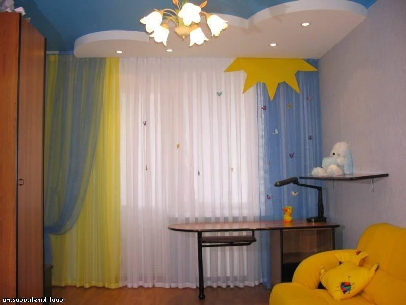 шторы сине желтые