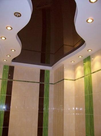 Подвесной потолок для ванной