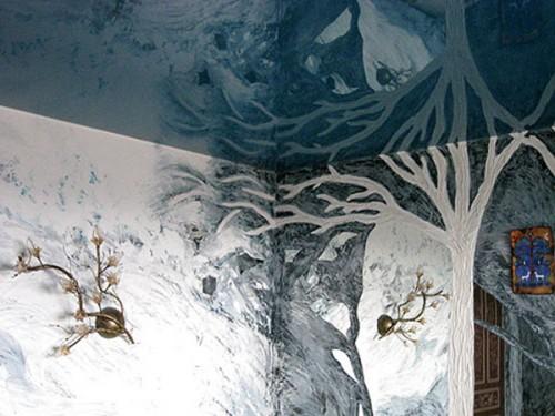 Фактурная краска для стен сделает стены дома произведением искусства