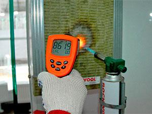 Тестирование пожаробезопасности утеплителя