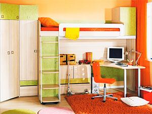 Выбор и обстановка детской комнаты мебелью