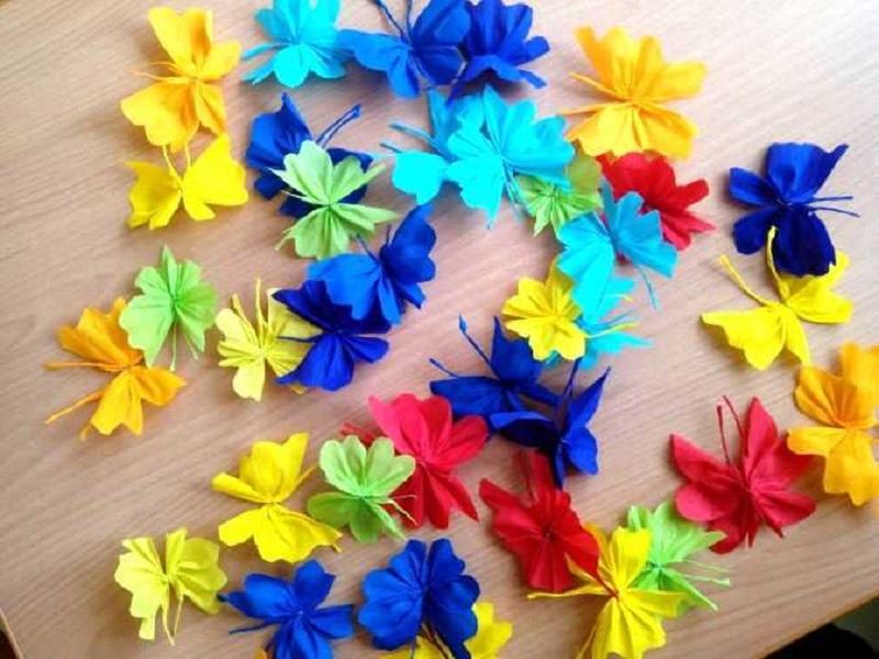 Поделки из бумаги гофрированной бумаги своими руками цветы