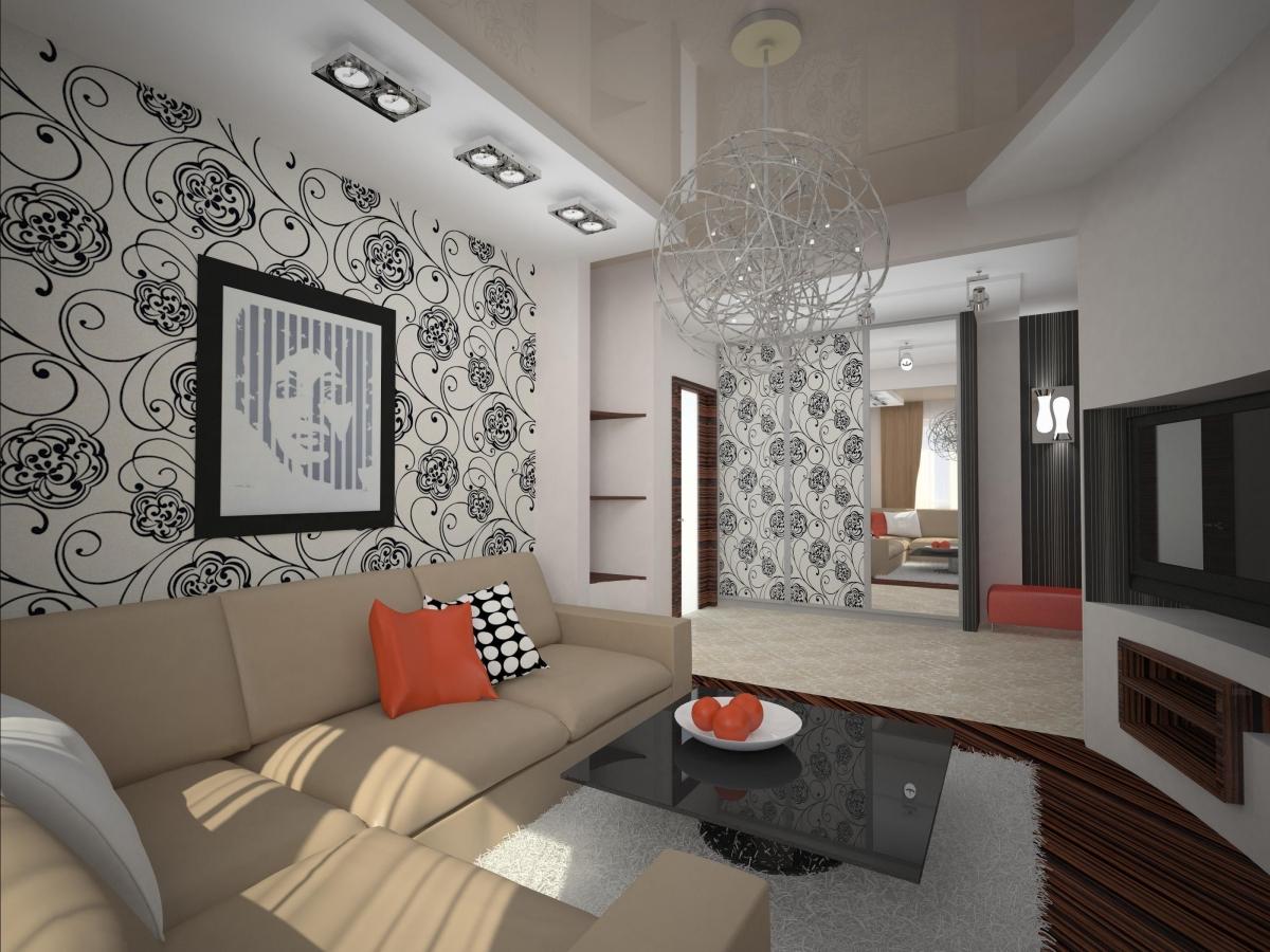 Зал 16 кв м прямоугольной формы дизайн
