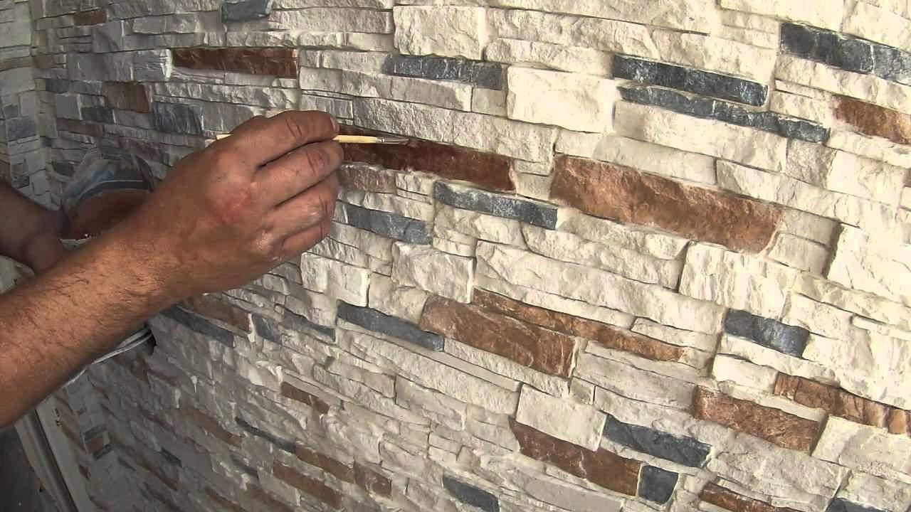 Покраска декоративного камня из гипса своими руками