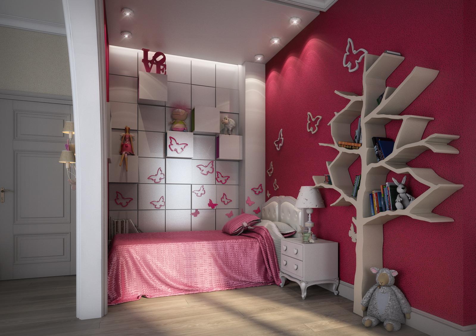 Фото интерьер детской комнаты для девочек