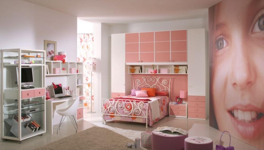 Комната для девочек дизайн мебели и ремонт